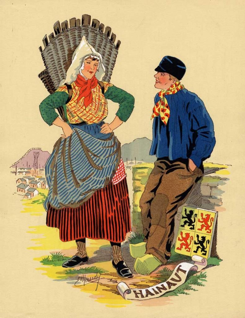 Les costumes belges au 19ème siècle